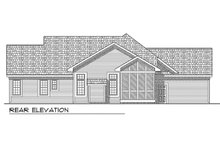 Dream House Plan - Traditional Exterior - Rear Elevation Plan #70-188
