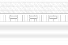 Country Exterior - Rear Elevation Plan #932-92