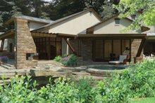 House Plan Design - Cottage Exterior - Rear Elevation Plan #120-244