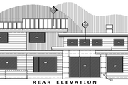 Contemporary Style House Plan - 4 Beds 3.5 Baths 3217 Sq/Ft Plan #892-10 Exterior - Rear Elevation