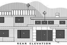 Contemporary Exterior - Rear Elevation Plan #892-10