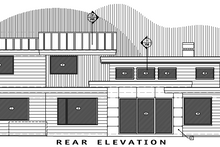 Contemporary Exterior - Rear Elevation Plan #892-10