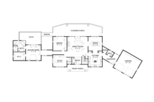 Contemporary Floor Plan - Main Floor Plan Plan #1042-15