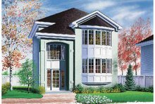 European Exterior - Front Elevation Plan #23-2366