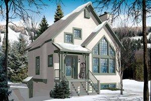 House Plan Design - European Exterior - Front Elevation Plan #23-2490