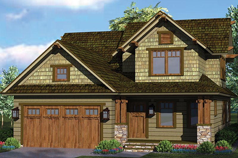 Craftsman style house plan 3 beds 2 5 baths 1883 sq ft for 40 ft wide house plans