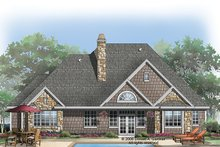 House Plan Design - Craftsman Exterior - Rear Elevation Plan #929-923