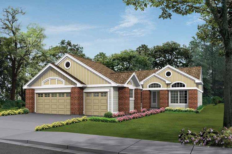 Craftsman Exterior - Front Elevation Plan #132-272