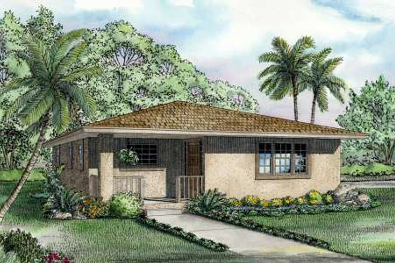 Cottage Style House Plan - 2 Beds 1 Baths 1052 Sq/Ft Plan #420-101 Exterior - Front Elevation