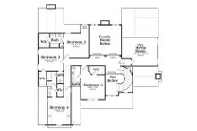 Traditional Floor Plan - Upper Floor Plan Plan #419-174