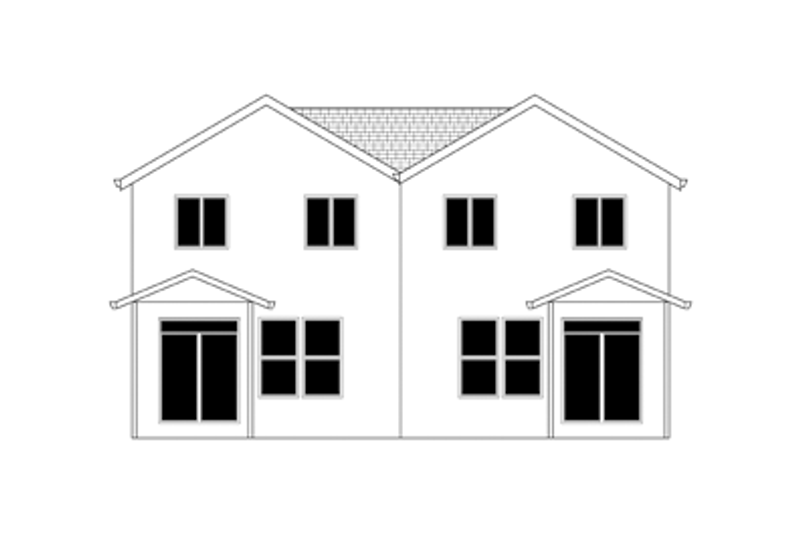 Craftsman Exterior - Rear Elevation Plan #943-37 - Houseplans.com