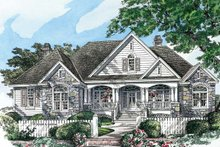 Architectural House Design - Country Exterior - Front Elevation Plan #929-955