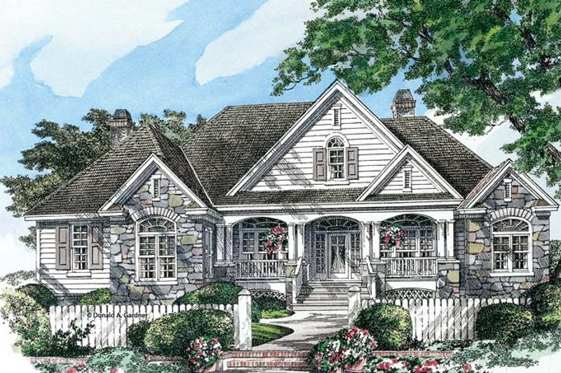 Country style house plan 4 beds 3 baths 3140 sq ft plan for Edgewater house plan