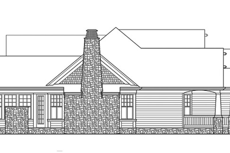 Traditional Exterior - Other Elevation Plan #132-542 - Houseplans.com