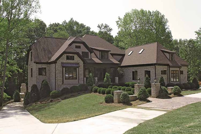 Dream House Plan - Tudor Exterior - Front Elevation Plan #453-573