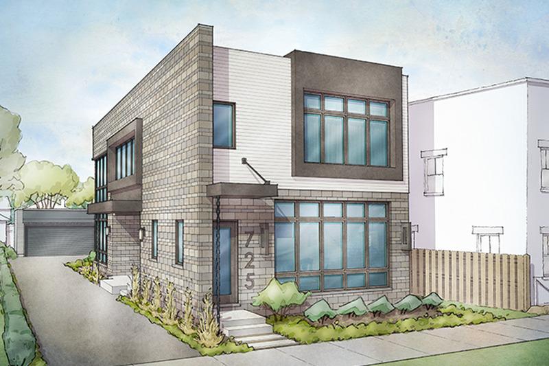 Contemporary Exterior - Front Elevation Plan #928-296 - Houseplans.com