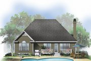 Ranch Style House Plan - 3 Beds 2 Baths 1593 Sq/Ft Plan #929-585 Exterior - Rear Elevation