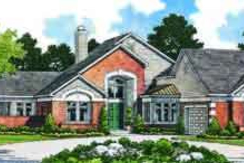 Traditional Exterior - Front Elevation Plan #72-471 - Houseplans.com