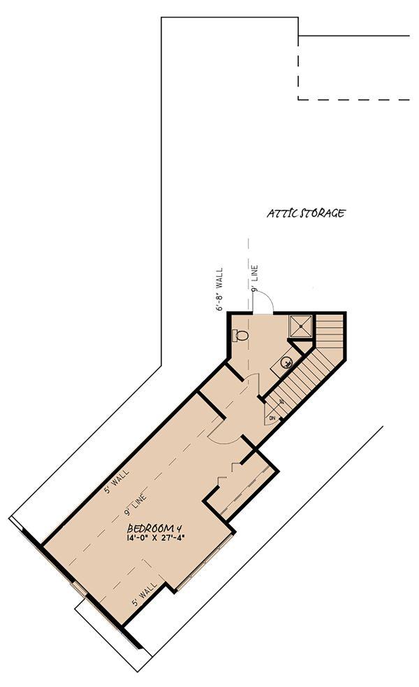 European Floor Plan - Upper Floor Plan Plan #923-139