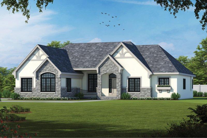 Dream House Plan - European Exterior - Front Elevation Plan #20-2125