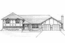 House Plan Design - Tudor Exterior - Front Elevation Plan #51-810