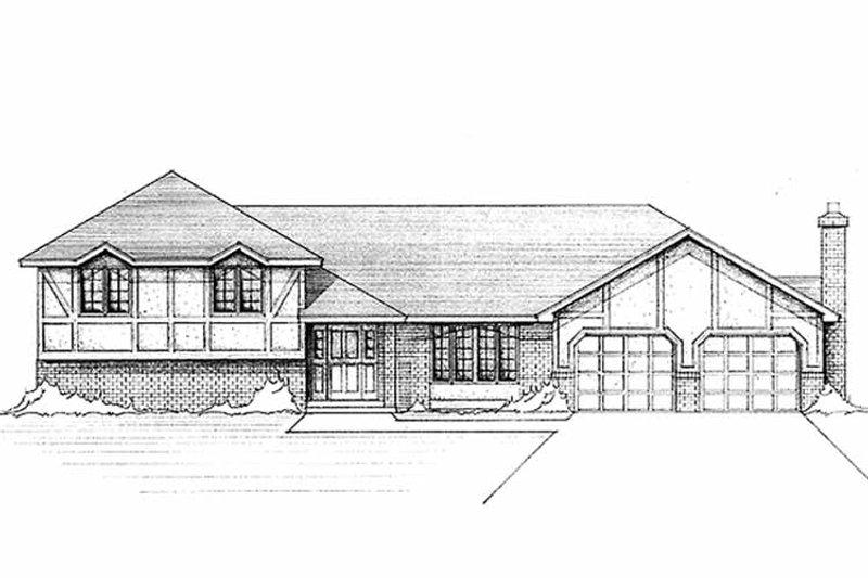 Tudor Exterior - Front Elevation Plan #51-810 - Houseplans.com