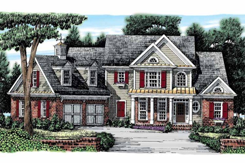 Colonial Exterior - Front Elevation Plan #927-866 - Houseplans.com