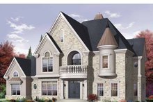 Architectural House Design - European Exterior - Front Elevation Plan #23-2418