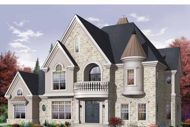 European Exterior - Front Elevation Plan #23-2418 - Houseplans.com