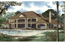 Mediterranean Exterior - Rear Elevation Plan #17-3282