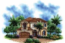 House Plan Design - Mediterranean Exterior - Front Elevation Plan #1017-148