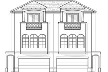Mediterranean Exterior - Front Elevation Plan #1021-16