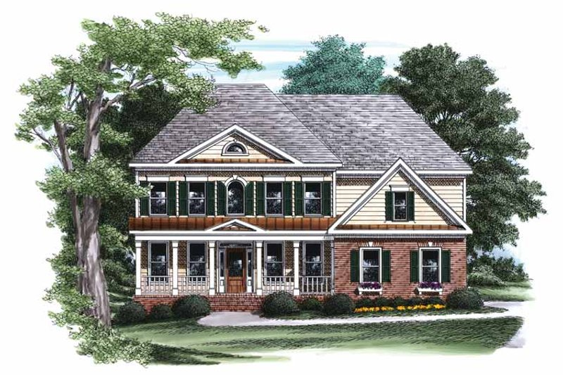 Classical Exterior - Front Elevation Plan #927-787