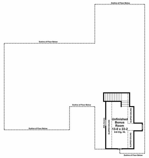 Country Floor Plan - Other Floor Plan Plan #21-196