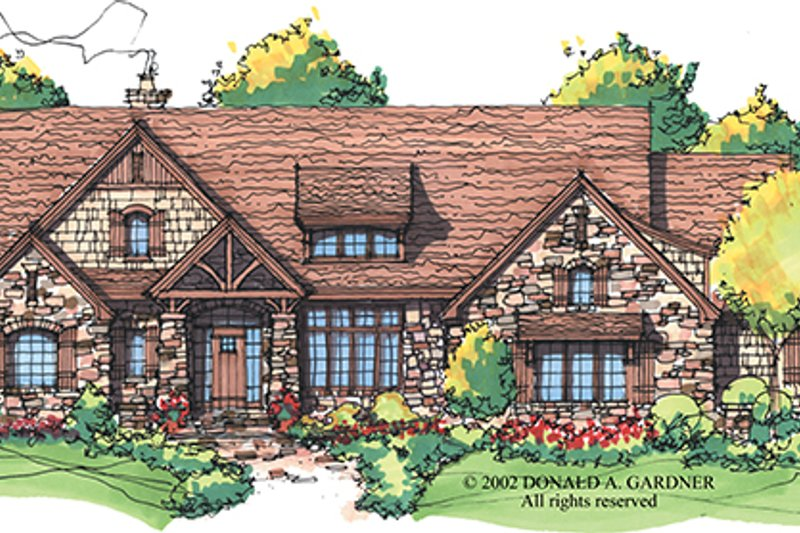 Architectural House Design - Craftsman Exterior - Front Elevation Plan #929-928