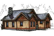 Craftsman Style House Plan - 2 Beds 2 Baths 1198 Sq/Ft Plan #921-12 Exterior - Front Elevation