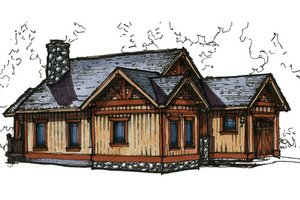 Craftsman Exterior - Front Elevation Plan #921-12