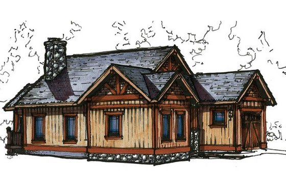Craftsman Exterior - Front Elevation Plan #921-12
