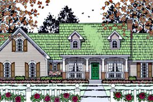 Country Exterior - Front Elevation Plan #42-676