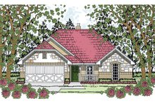 Country Exterior - Front Elevation Plan #42-720