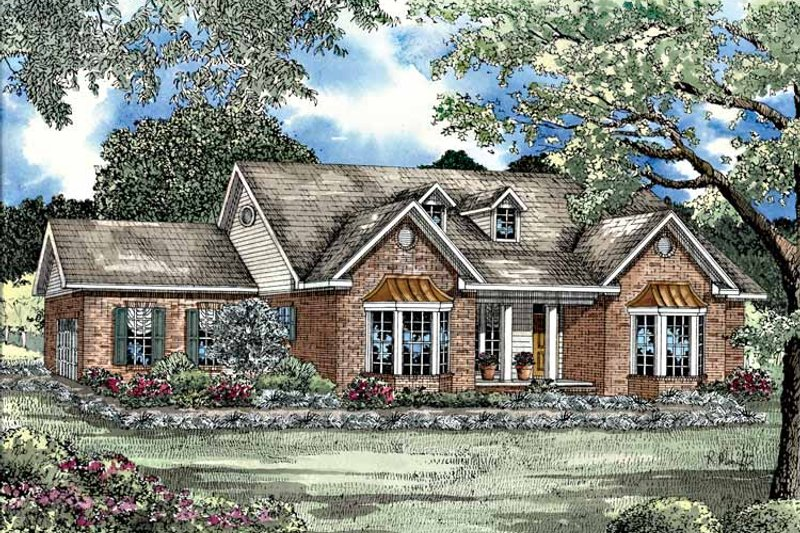 Country Exterior - Front Elevation Plan #17-2747