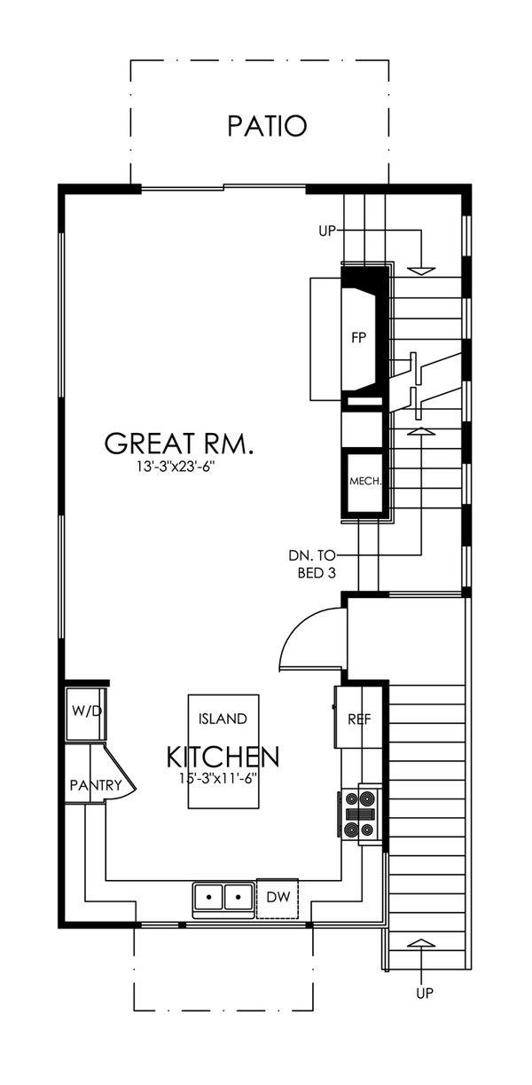 Traditional Floor Plan - Main Floor Plan Plan #484-13