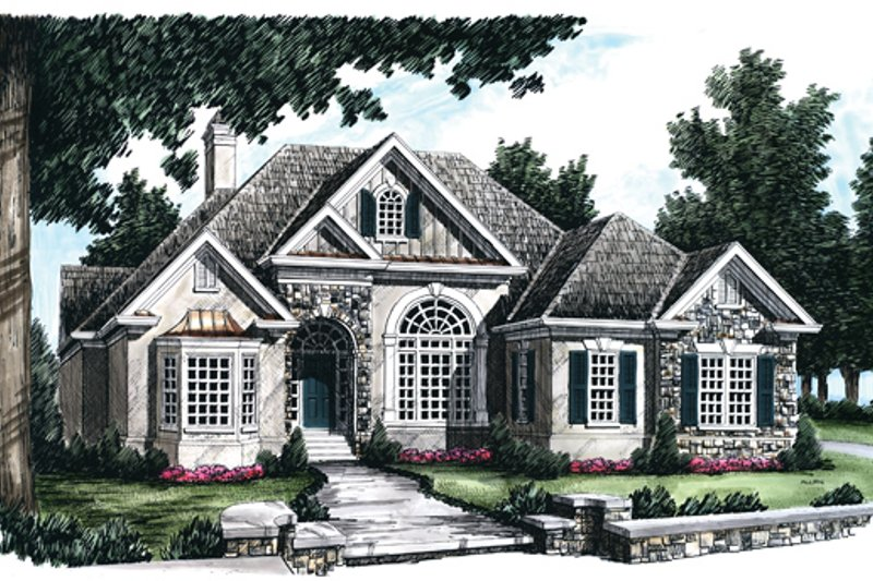 Country Exterior - Front Elevation Plan #927-67 - Houseplans.com