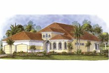 Home Plan - Mediterranean Exterior - Front Elevation Plan #1017-87