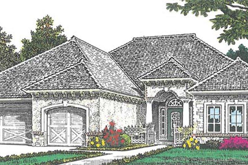House Plan Design - European Exterior - Front Elevation Plan #310-1266