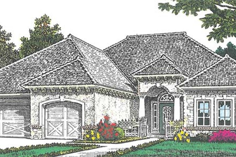 European Exterior - Front Elevation Plan #310-1266