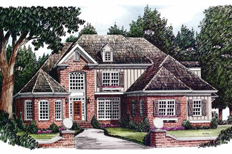 Country Exterior - Front Elevation Plan #927-601