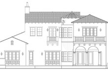 Mediterranean Exterior - Rear Elevation Plan #1058-154