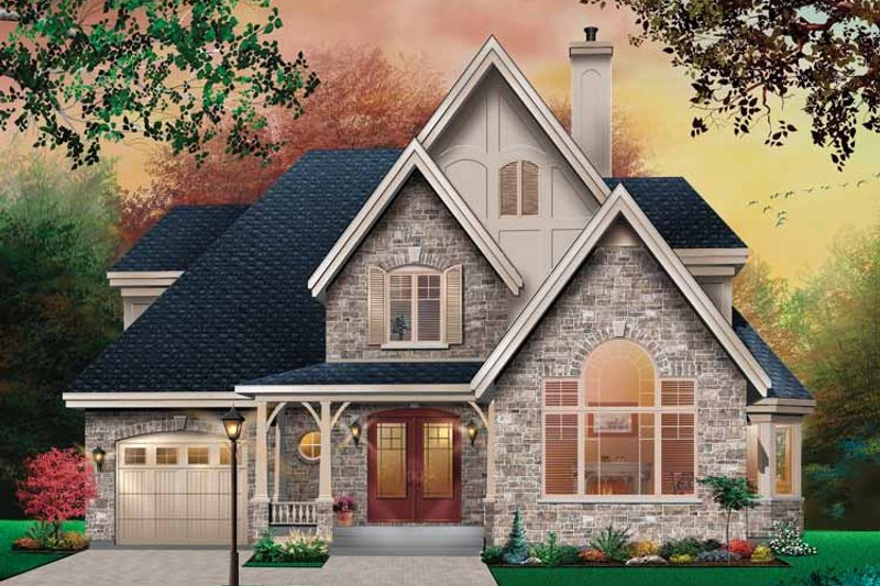House Plan Design - Country Exterior - Front Elevation Plan #23-2416