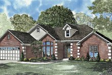 Ranch Exterior - Front Elevation Plan #17-3121